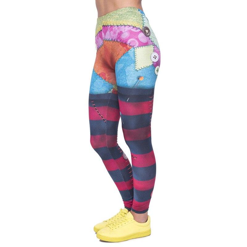 Fashion Patch Women Legging Rag Doll Printing Leggings Cozy Slim High Waist Woman Pants