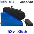 52v 1500w треугольная батарея 51 8 V 35AH литиевая батарея 52V 35AH Электрический велосипед батарея использовать sanyo ячейка с 58 8 V зарядное устройство + ...