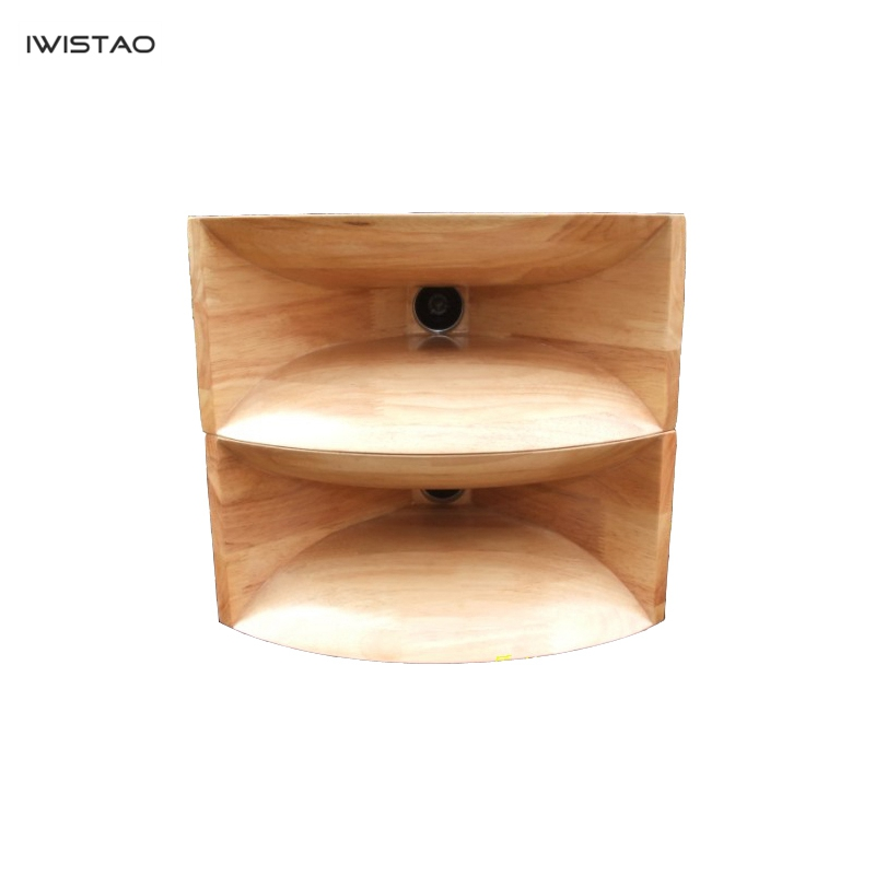 IWISTAO HIFI Empty Wood Horn Solid 1 Pair Treble Compensation for Full Range Speakers 5