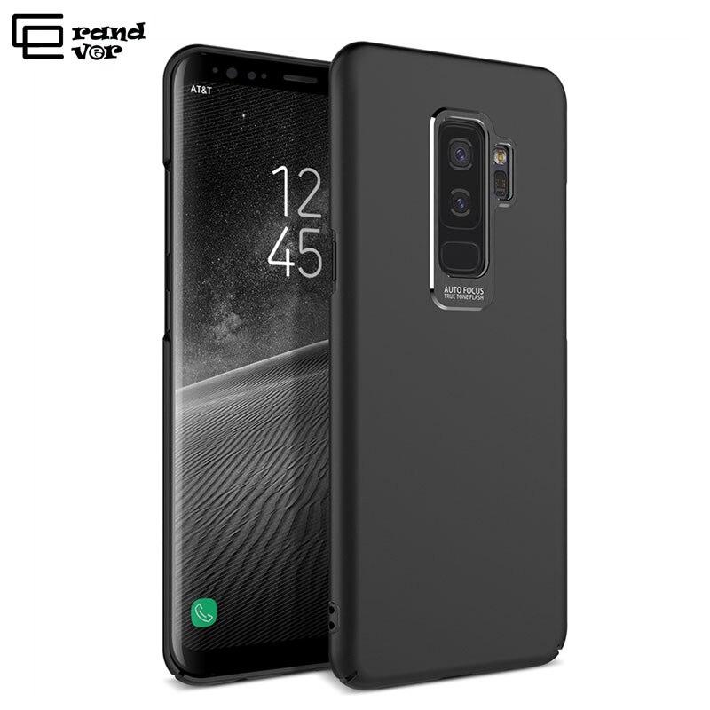 Grandever чехол для Samsung Galaxy S8 S9 плюс Примечание 8 A5 2017 Чехол черный бампер защиты камеры для мужчин и женщин ультра тонкий крышка