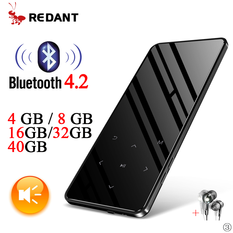 MP4 player bluetooth Metal mp3 mp4 music player portable digital media slim with 2.4 inch touch Screen fm radio video Hifi 32GB