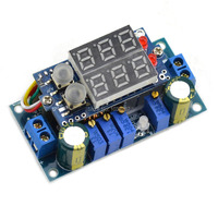 Jtron 5A DC DC Multifunction Double Display Voltmeter Buck Module Blue DIY A Power Supply