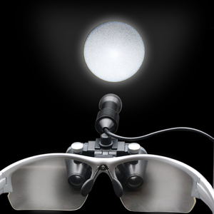 Image 4 - 2.5X/3.5X 420 mm Dental Loupe Magnifier Binocular Magnifier Surgery Surgical Medical Operation Loupe with Spotlight Head Light