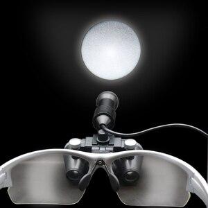 Image 4 - Lupa stomatologiczna, 2.5X/3.5X 420 mm, chirurgiczna lupa dwuokularowa, lupa do operacji medycznych z reflektorem punktowym