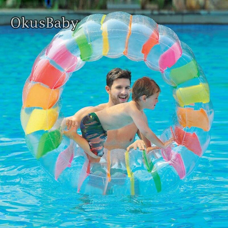 Été gonflable flottant bébé nager Floate rouleau bain eau jouet piscine radeaux taille pour enfants Sport aquatique pelouse balle de plage