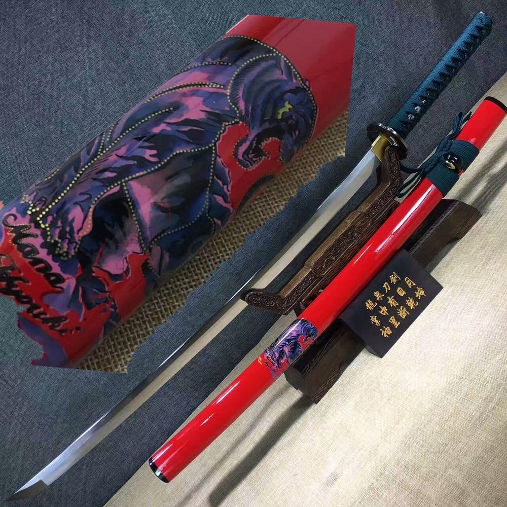 Affidabile Rise Of The Samurai Tradizionale Giapponese Fatta A Mano 1090 Ninja Spada Katana Acciaio Al Carbonio Sharp Katana Sword W/sacchetto Della Spada