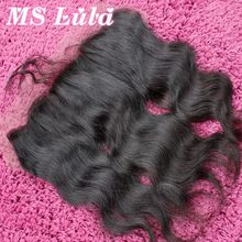 Free Shipping Free part 13×4 Lace frontal closure with baby hair Peruvian virgin hair body wave full thick ms lula hair