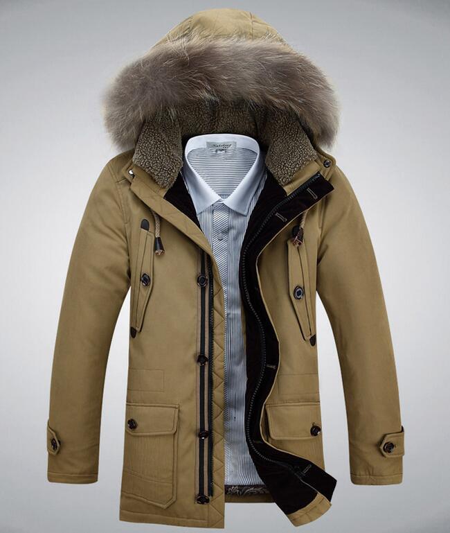 2017 New Winter Brand Men Down Jacket Fur Hood Plus Size Xxxl Winter Jacket High Quality Fashion Men's Coat Hot Sale winter brand new men winter cotton down jackets for men winter hooded jacket men winter coat plus size xxxl