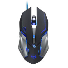 3500 DPI 6 Button Optical Custom Macros USB Wired Gaming Steel Mouse Mice