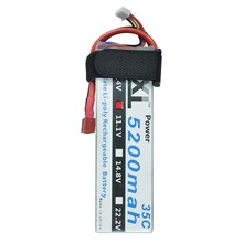 XXL Lipo Battery 5200mAh 11.1V 3S 35C RC LiPo Battery for T-REX 550 Monster Truck RC Fixed-wing Helicopter