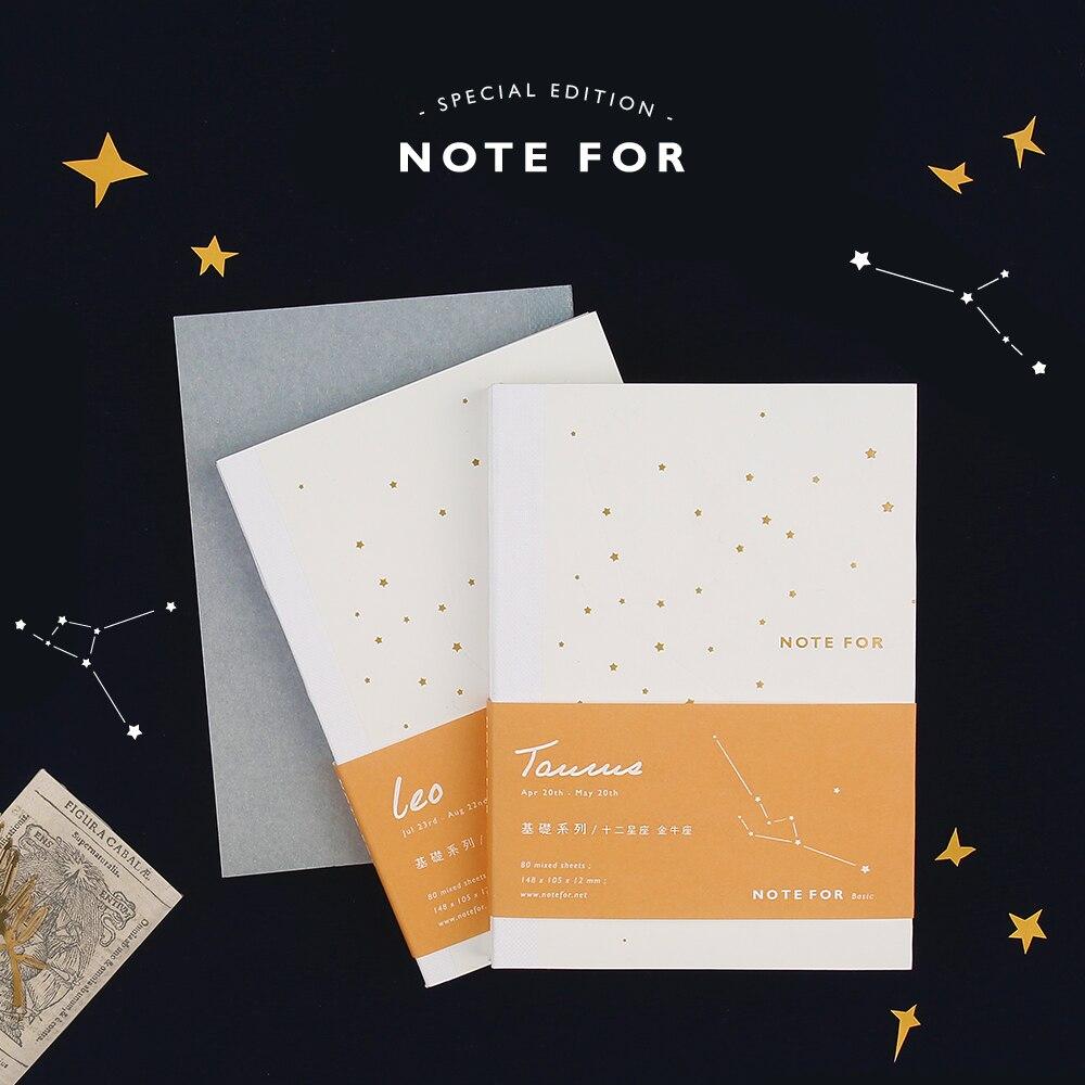 A6 constellation hobo caderno interno em branco grade linhas páginas diário nota livro refiller papel planejador diário bonito papelaria