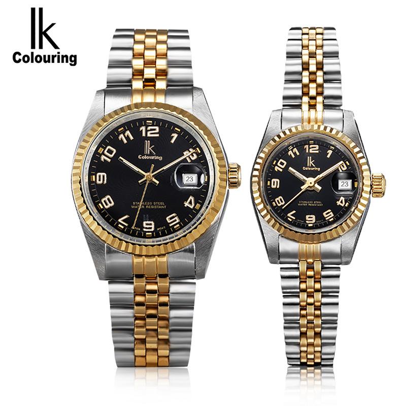 Prix pour Ik colouring relogio masculino de luxe célèbre marque quartz affaires montre-bracelet 5atm étanche robe montre-bracelet pour femmes hommes