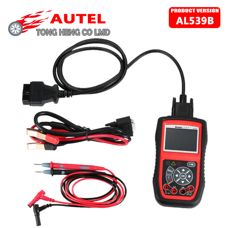 Цена за DHL Бесплатно Оригинальный Autel Автоссылка AL539B OBDII авто Code Reader Электрические Инструмент Тестирования AL 539B 539 b Автомобильный Сканер automotriz