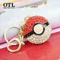 Pocket Monster Catoon Zinc Alloy Metal Pokemon Pikachu Poke Ball Anime Keychain Keyring Unisex Ash Ketchum Pendant