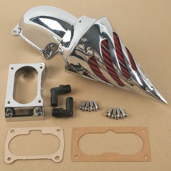 Chrome Air Cleaner Kits Intake Filter For Kawasaki Vulcan VN 2000 2004-2010 2005