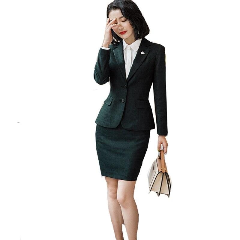 2018 Frauen Blazer Zwei-stück Sets Anzüge Blazer + Elegante Rock Hosen Weißes Hemd Formal Anzüge Gut Verkaufen Auf Der Ganzen Welt