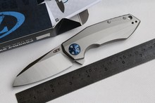 ZT ZeroTelerance Flipper 0456 Cuchillo Plegable mango de titanio Cojinete de Bolas de campamento de caza de La Supervivencia del Bolsillo Herramienta EDC 204 P blade knives