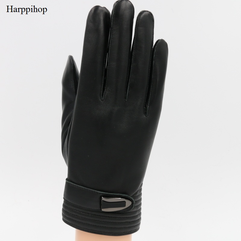 Male 2017 Spring/Winter Real Leather Short Thin/Thick Black/Brown Touched Screen Glove Man Gym Luvas Car Driving Mittens