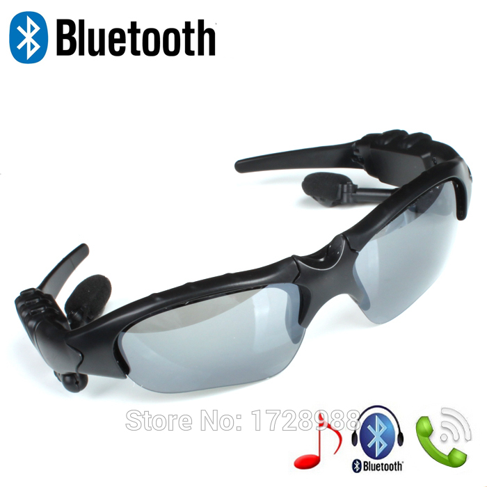 New Sports Sunglasses Wireless Bluetooth earphone stereo Headphone Music Foldable Headset universal for all phone free shipping