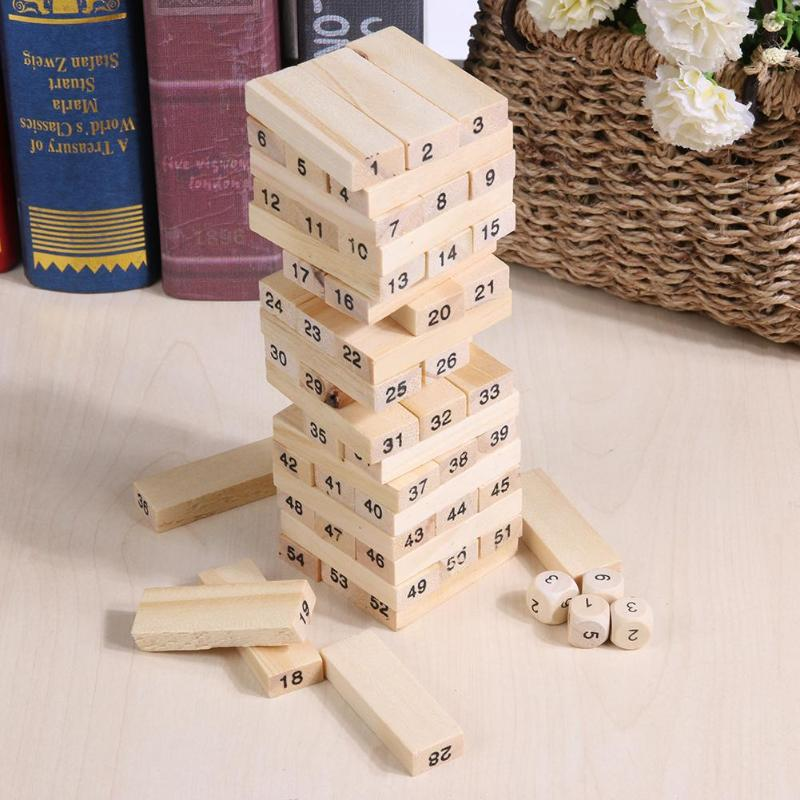 Деревянная Башня игрушки для детей строительных развивающие игрушки полушария баланс укл ...