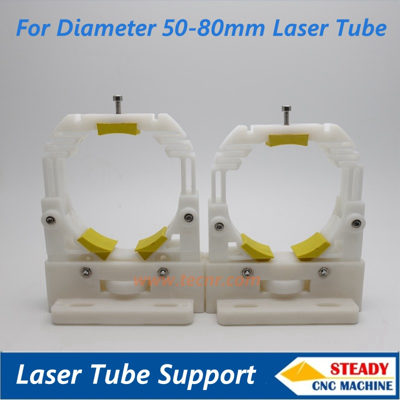 CO2 laser tube support for laser equipments parts
