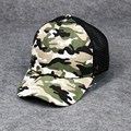 Europe Selling Camouflage Snapback Mesh Cap Baseball Cap Visor Ms. Summer Outdoor Men's Cotton Cap M-101