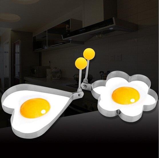 1 шт. яйцо плесень S/Сталь Цветочное сердце Форма омлет плесень печенье жарки Пособия по кулинарии яйцо кольцо яйцо браконьеры дома KX 154