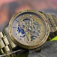 Winner Watch Men Skeleton Automatic Mechanical Watch Gold Skeleton Vintage Man Watch Mens Steampunk Watch Top Brand Luxury