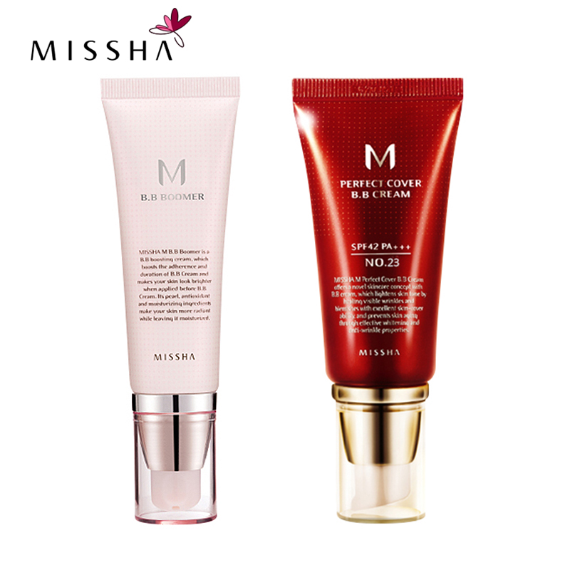Best Korea Cosmetics MISSHA M Perfect Cover BB Cream 50ml SPF42 PA+++ (NO.23 Natural Beige ) Foundation Makeup & BB Boomer 40ml