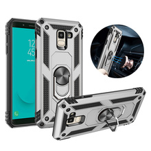 For Samsung Galaxy A6 A8 Plus 2018 case Holder Stand Armor Hybrid Magnetic Bracket Finger Ring Cover J6 J8 A7 A750 A9
