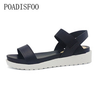 LTARTA Fashion Fish Head Sandals Female Robe Thick Bottom Elastic Buckle With Roman Shoes Women S
