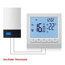 Газовый котел нагревательный термостат Синий 1,5 V батарея питание регулятор температуры для котлов Еженедельный программируемый
