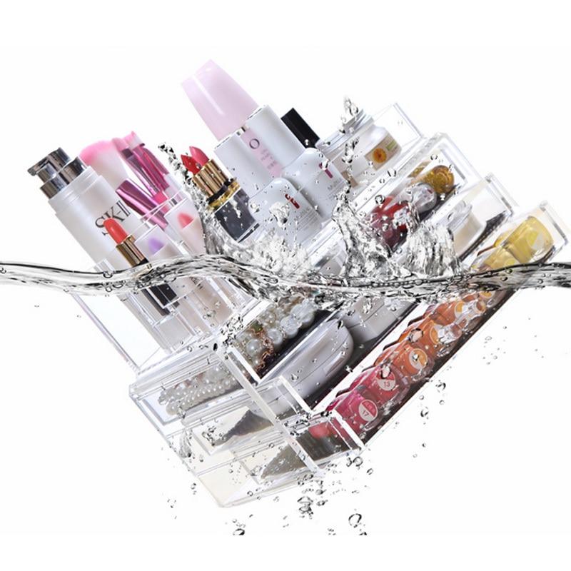 LVV RUMAH Akrilik Makeup Organizer Kotak Penyimpanan Kotak Kosmetik - Organisasi dan penyimpanan di rumah - Foto 6