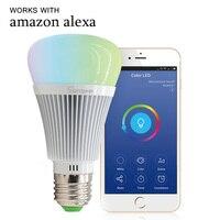 6W E27 Led Bulb Dimmer Wifi Smart Light Bulbs Remote Control Wifi Light Switch Led Color