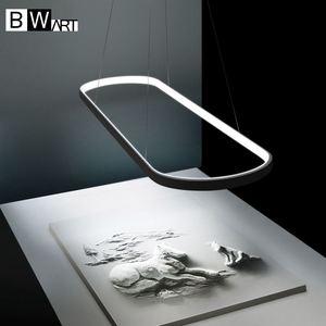 Image 4 - BWART מודרנית אהיל שחור תעשייתי לופט נברשת תליון תליית אור luminaire LED גופי למטבח חדר אוכל מיטת