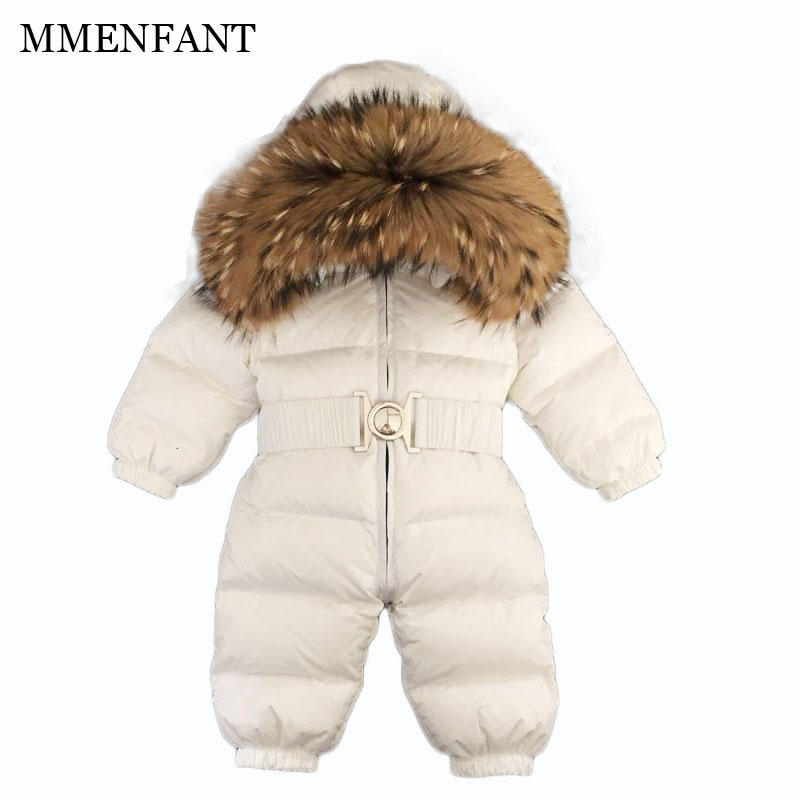 Christmas 2017 brand new winter newborn infantil baby rompers kid boys and girls clothing real fur jumpsuit down overall jacket 2016 winter new soft bottom solid color baby shoes for little boys and girls plus velvet warm baby toddler shoes free shipping