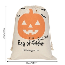 2018 Halloween Bags Trick or Treat Candy Drawstring Sacks Bag for Kids Presents Gift