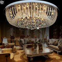 Современный минималистский спальня лампы уютная гостиная лампа LED Crystal Круглый потолочный огни роскошные лампы освещения гостиницы Dia800xH300mm