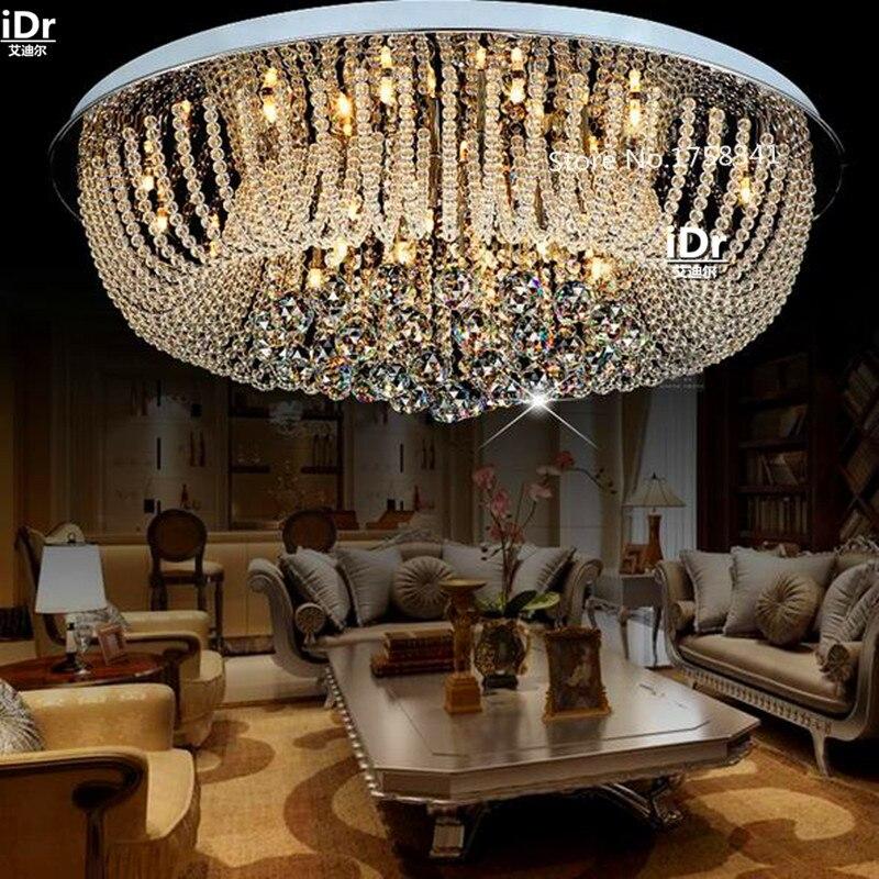 US $398.0 50% OFF|Modernen minimalistischen schlafzimmer lampe gemütliches  wohnzimmer lampe led Kristall runde Deckenleuchten Luxus lampe Hotel ...
