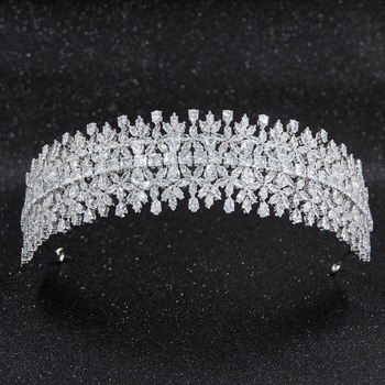 2019 Crystal Cubic Zirconia Bridal Wedding Headband Hairband Tiara Flower Hair Jewelry Accessories Hairpieces CHA10018