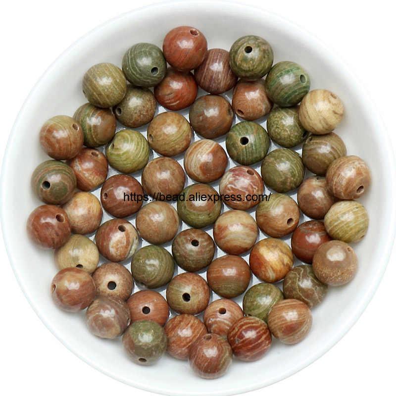 Envío Gratis Piedra Natural suave rojo Brecciate Jaspers redondo cuentas sueltas elegir 19 colores y tamaños para hacer joyas hechas a mano