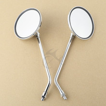 Motorcycle Chrome Side Rear View Round Mirrors For Honda CB1000 CB500 CB650 CB750 CB900 New