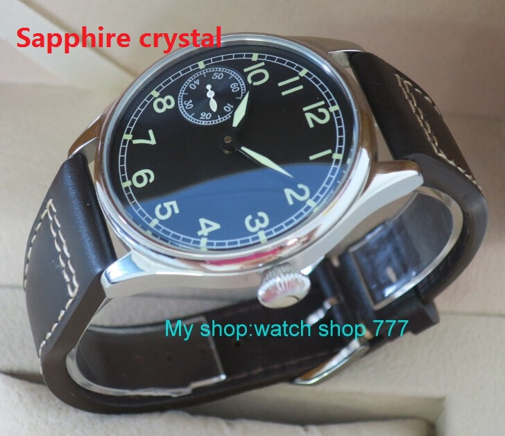 Sapphire crystal 44mm PARNIS ST3600/6497 Mechanical Hand Wind  movement Mechanical watches  mens watches wholesale o9Sapphire crystal 44mm PARNIS ST3600/6497 Mechanical Hand Wind  movement Mechanical watches  mens watches wholesale o9