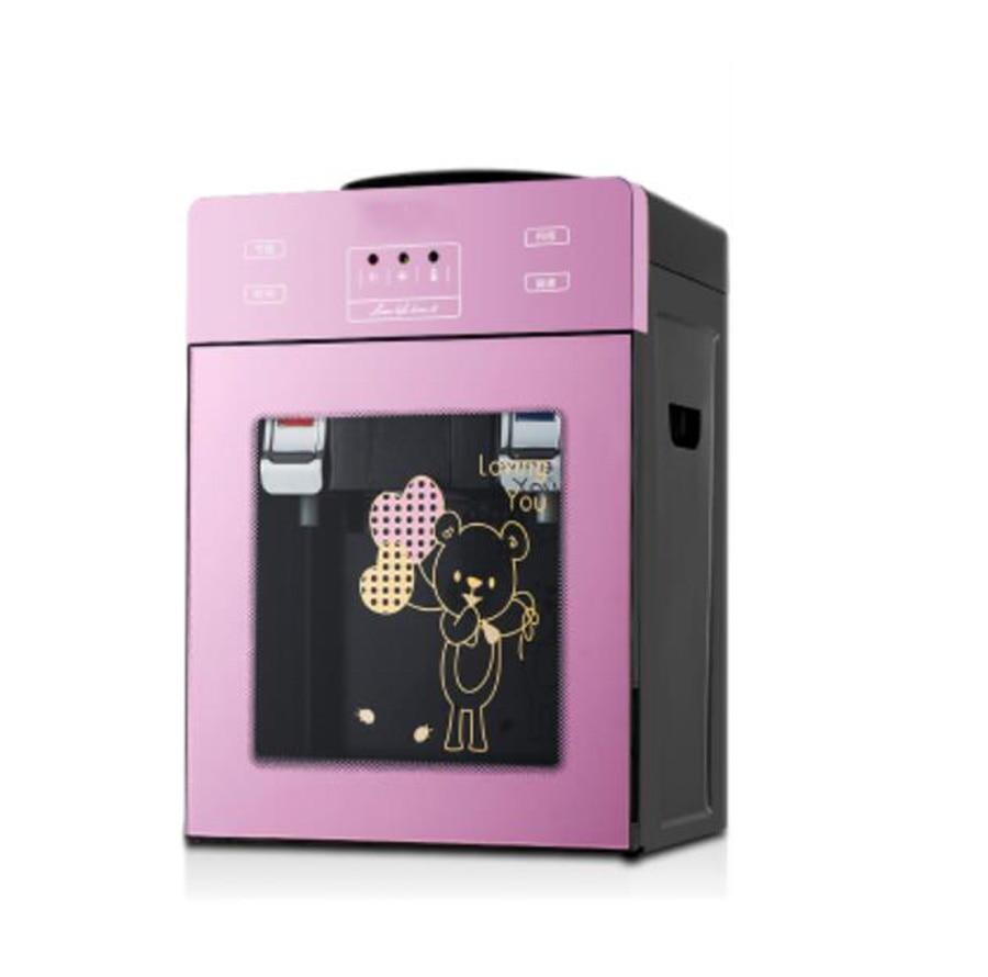 Mini Electric Water Dispenser Desktop Miniature Cold and Hot Ice Cooling Water Cooler Hostel Water Heater Coffee Tea Bar Helper