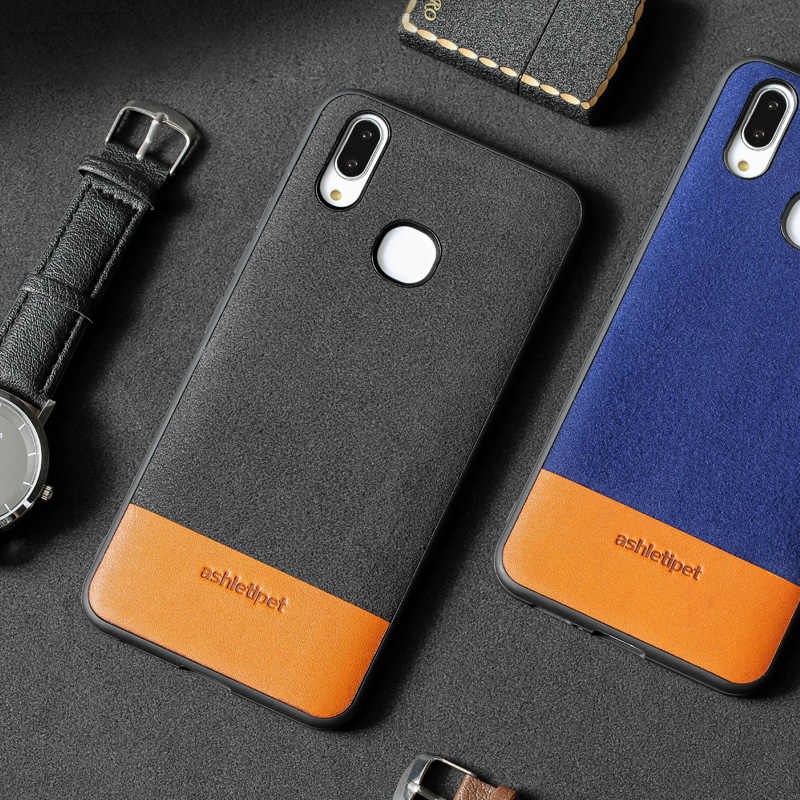Genuine Leather Phone Case For Vivo X21 X20 Plus Case Suede and Cowhide  Stitching Back Cover For X9 X9s Plus Case