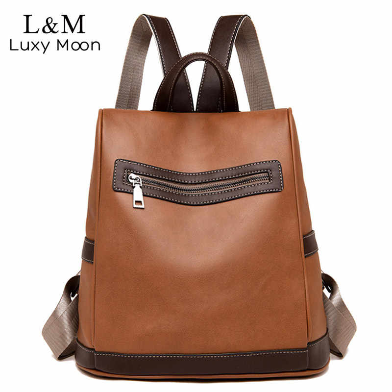 Fashion Women Backpack High Quality PU Leather Backpacks for Teenage Girls  Female School Shoulder Bag Bagpack 2bfcac0632156