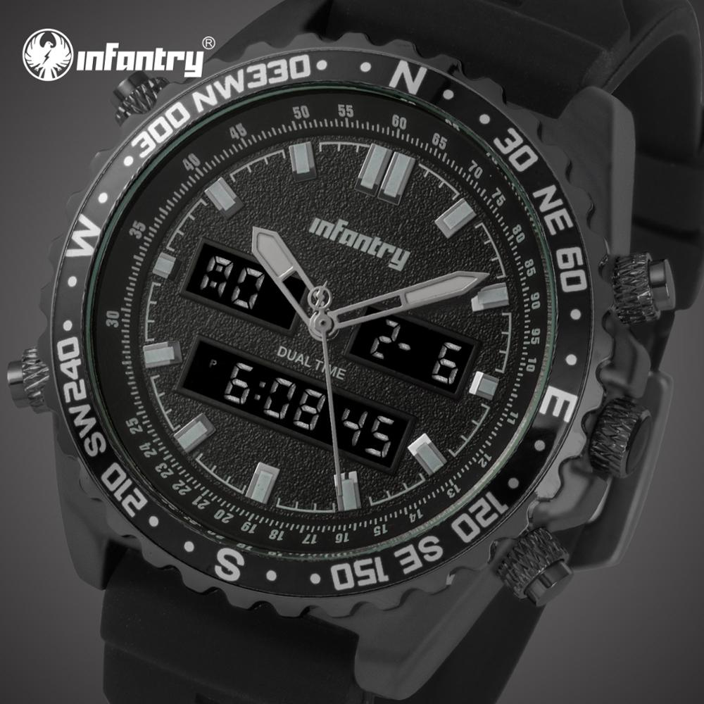 INFANTRY Mens Watches Top Brand Luxury Military Watch Men Analog Digital Watch for Men Pilot Army Tactical Big Relogio MasculinoINFANTRY Mens Watches Top Brand Luxury Military Watch Men Analog Digital Watch for Men Pilot Army Tactical Big Relogio Masculino