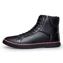Из натуральной нешлифованной кожи мужские зимние сапоги плюс Размеры 45 46 Для мужчин Повседневное Мех без каблука Обувь Ботильоны