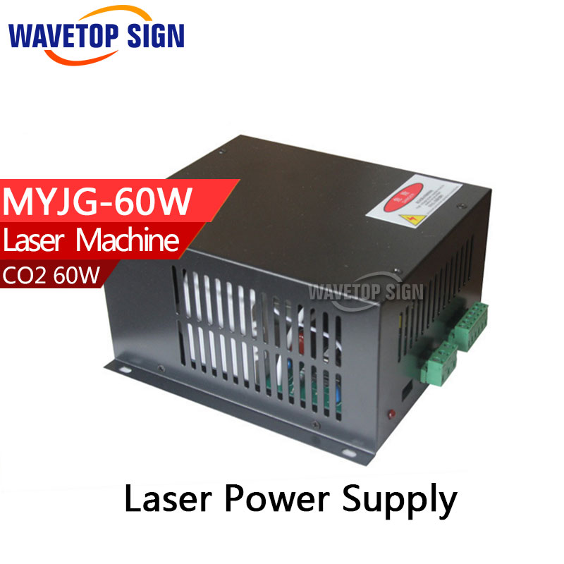 60W CO2 Laser Power Supply for CO2 Laser Engraving Cutting Machine MYJG-60W high quality 110 220v cnc wood working 60w 400 600mm co2 laser engraving cutting machine 4060 laser with usb sport