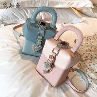 Summer Fashion New Handbags High Quality Pu Leather Women Tote Bag European Wind Casual Diamond Box Shoulder Messenger Bag